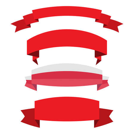 Illustration pour set of red ribbon banner icon,Vector illustration. Place for your text. Ribbons for business and design. Design elements - image libre de droit