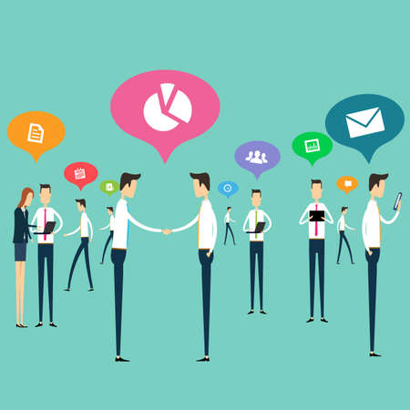 People work business communications connection vector