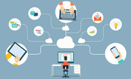 vector cloud network for business working online