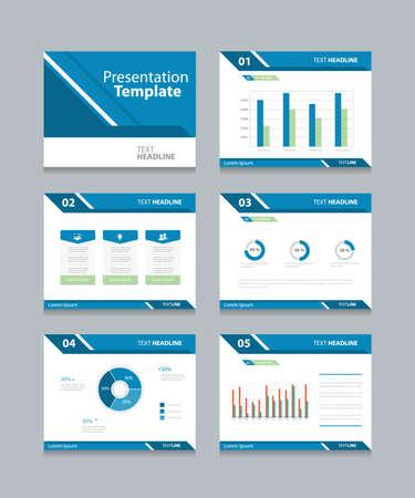 Ilustración de Vector template presentation slides background design.info graphs and charts . slides design.flat style. - Imagen libre de derechos