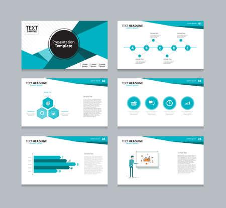Illustration for Vector template presentation slides background design - Royalty Free Image