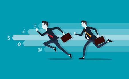 Illustration pour business competitive on business graph - image libre de droit