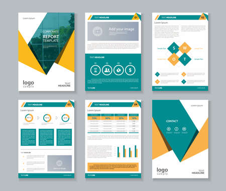 annual report , brochure , flyer, layout template