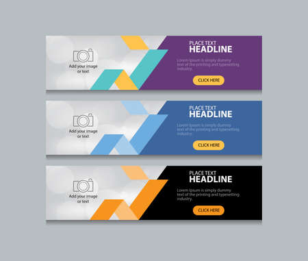 Ilustración de abstract web banner design template background - Imagen libre de derechos