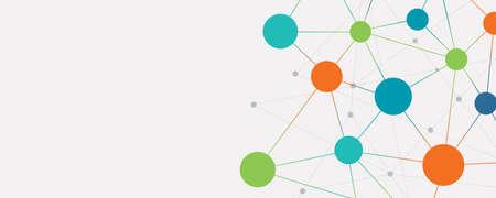 Illustration pour color abstract social network connection banner background concept - image libre de droit