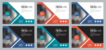 Illustration pour Template set design for social media and web banners background for presentation, brochure, book cover layout, and flyers - image libre de droit
