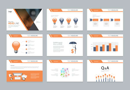 Ilustración de business presentation template design and page layout design for brochure ,book , magazine,annual report and company profile , with infographic elements graph - Imagen libre de derechos