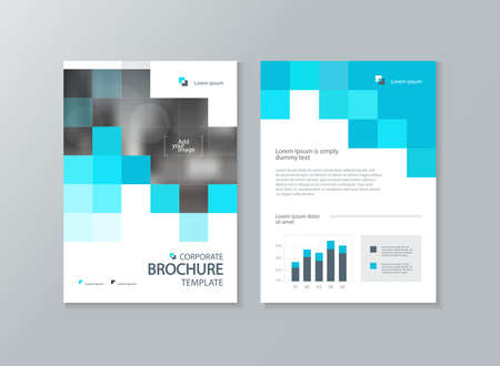Illustration pour business brochure, flyer ,report layout template, with abstract cover design background - image libre de droit