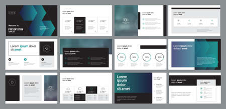 Illustration pour abstract business presentation template design and page layout design for brochure ,book , magazine,annual report and company profile , with info graphic elements graph - image libre de droit