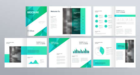 Layout Template For Company Profile Annual Report Brochures Flyers Leaflet Magazine Book With Cover Page Design Royalty Free Vector Graphics