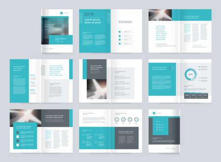 Illustration pour page layout design for company profile, brochure, report,book,catalog - image libre de droit