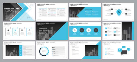 Ilustración de business presentation backgrounds design template and page layout design for brochure ,book , magazine,annual report and company profile , with infographic elements graph design concept - Imagen libre de derechos
