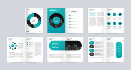 Illustration pour template layout design with cover page for company profile, annual report, brochures, flyers, presentations, leaflet, magazine, book. and vector a4 size for editable. - image libre de droit