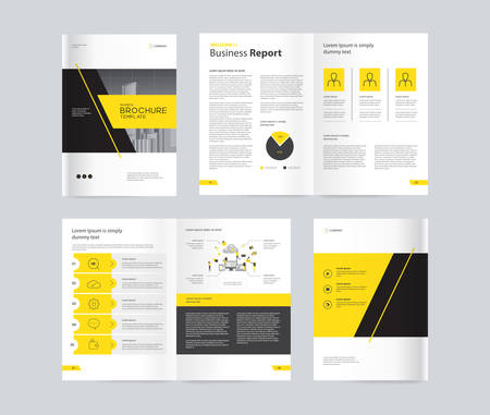 Foto für template layout design with cover page for company profile ,annual report , brochures, flyers, presentations, leaflet, magazine,book . and vector a4 size for editable. - Lizenzfreies Bild