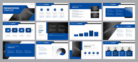 Illustration pour business presentation backgrounds design template and page layout design for brochure ,book , magazine, annual report and company profile , with info graphic elements graph design concept - image libre de droit