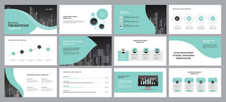 Illustration pour set template design for social media post and web banners background, with use in presentation, brochure, book cover layout, - image libre de droit