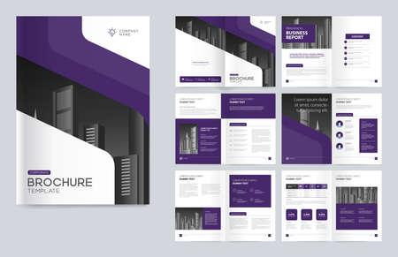 Illustration pour Template layout design for cover page - image libre de droit