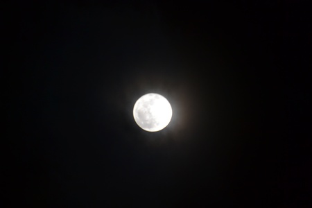 Close u p of a full moon