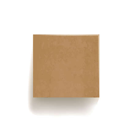 Illustration pour Sealed cardboard box isolated on white vector illustration - image libre de droit