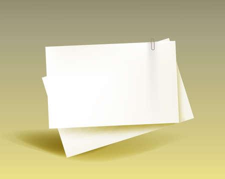 Ilustración de Business concept paper with a paper clip. Vector - Imagen libre de derechos