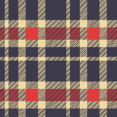 Tartan plaid fabric textile pattern - vector