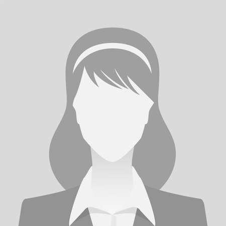 Illustration pour Person gray photo placeholder woman in costume on gray background - image libre de droit