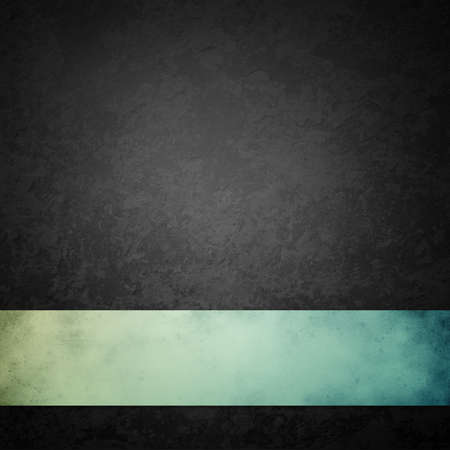 Photo pour black background with blue green ribbon, distressed vintage grunge texture with marbled black and gray stone or rock design, old dark charcoal color design that is elegant and classy - image libre de droit