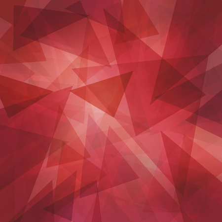 Foto de abstract modern red background with layers of floating transparent triangles - Imagen libre de derechos