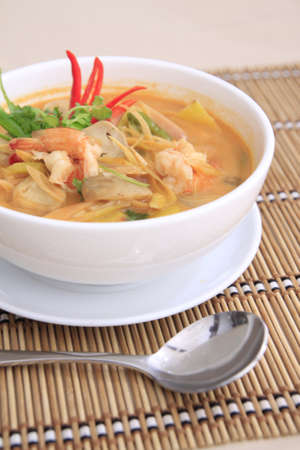 Tom yam Goong, spicy thai soup with shrimp