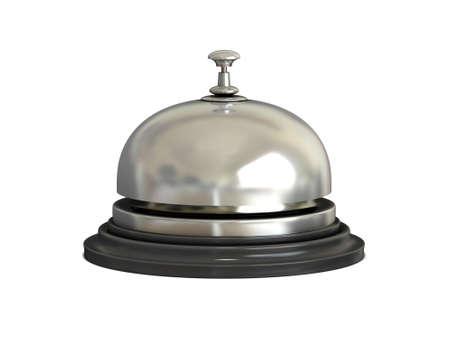 Foto für Chrome Reception bell on white background - Lizenzfreies Bild
