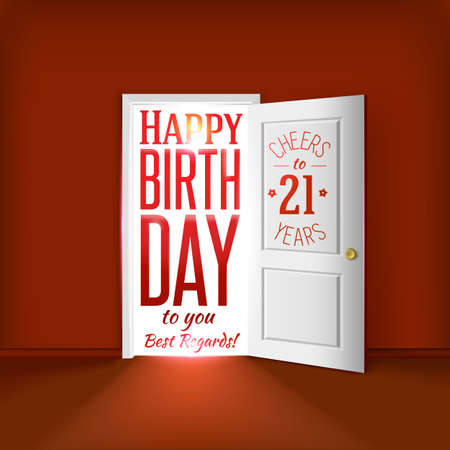 21 birthday card concept.
