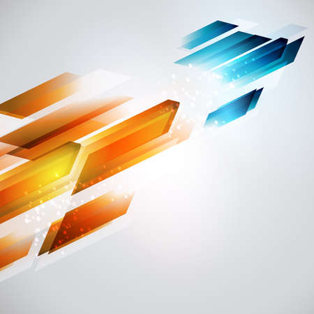 From hot to cold refresh illustration. Geometrical arrow background. Energy development.