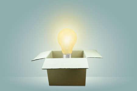 Lamp idea concept outside the box