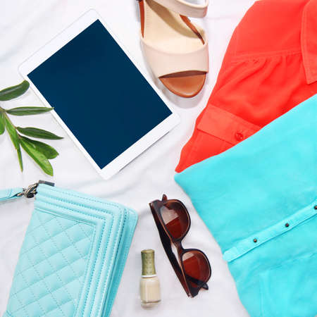 Photo for collection collage of women's clothing - Royalty Free Image