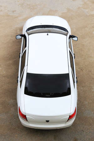 White modern car top view