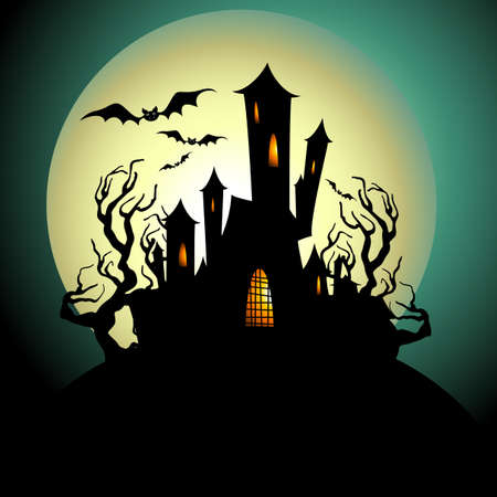 Haunted House Silhouette