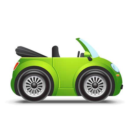 Green cabriolet icon