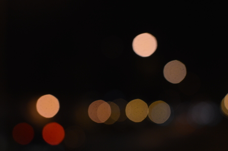 Bokeh night light joyful abstract blur of Christmas festive time background image