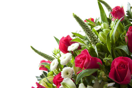 Foto de Bouquet with different kind of flowers for background use - Imagen libre de derechos