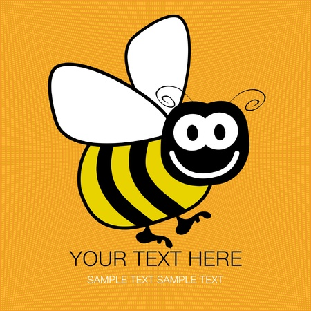Bumble bee vector design with copy space.