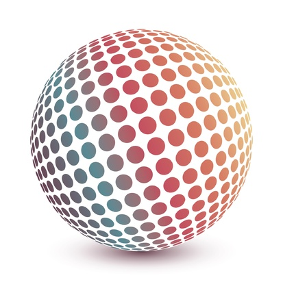 Multicolored globe design.