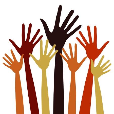 Long fingered hands illustration