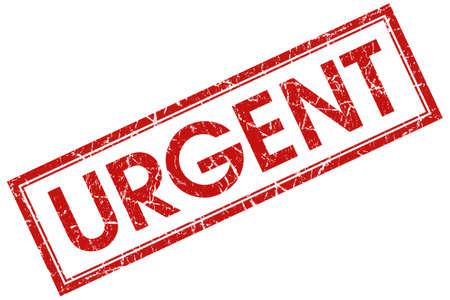 urgent red square stamp
