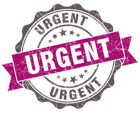 Urgent violet grunge retro style isolated seal