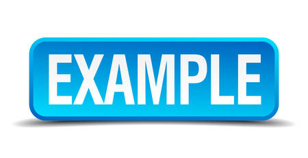 example blue 3d realistic square isolated button