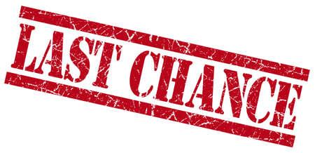 Photo pour last chance red grungy stamp on white background - image libre de droit