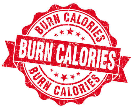 burn calories red vintage isolated seal