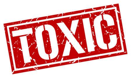Illustration pour toxic square grunge stamp - image libre de droit