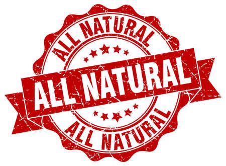 Illustration pour all natural stamp. sign. seal - image libre de droit