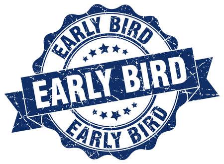 Illustration pour early bird stamp. sign. seal - image libre de droit